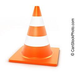 traffic cone, 3d