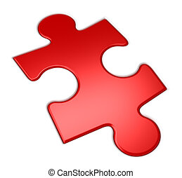 red puzzle, 3d