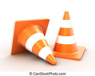 traffic cones, 3d