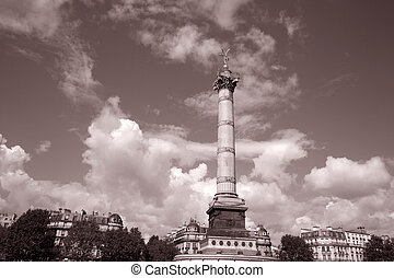 Bastille, Paris - July Column in Bastille Square, Paris