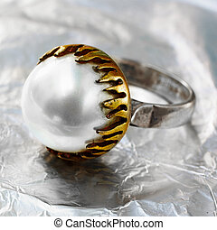 Ottoman pearl vintage ring
