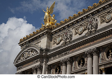 Main Facade of Palais Garnier Opera House; Paris, France