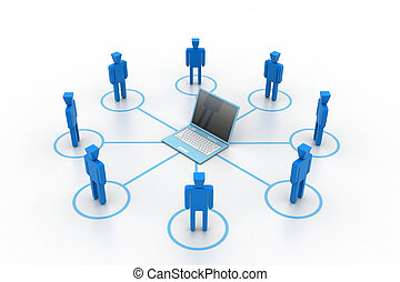 Business network with computer