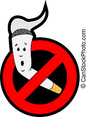 stop smoking - Stop smoking. The cigarette is placed in the...
