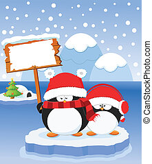 Penguin's Message - Cute Penguin's Christmas Message