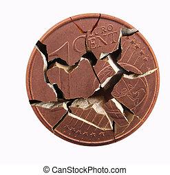 coin - A broken coin
