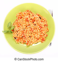 Risotto with tomatoes