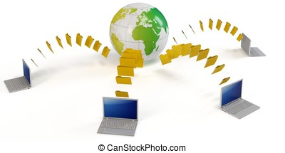 3d global file transfer concept