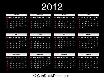 Calendar for 2012 - 2012 annual calendar template on the...