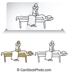 Chiropractor Aligning Spine - An image of a chiropractor...