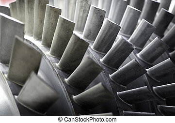 Blades of a Jet Engine - Detail of a jet engine's blades