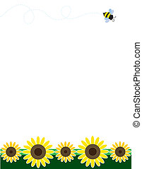 Sunflower Border - A frame or border featuring sunflowers at...