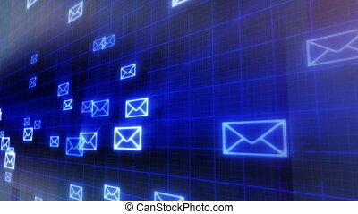 loop background flying mails - seamless loop background...