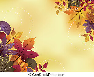Fall Leaf Background - Illustration of abstract fall leaves...