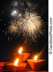 Traditional Diwali Festival - A perfect image showing the...