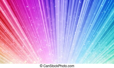 rainbow loop background light beams - Seamless loop CG...