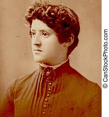 19TH CENTURY WOMAN - An image of a 19th Century woman
