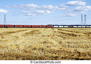 Transportation, energy and agriculture - Industrial concept:...