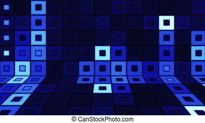 beaming blue squares disco loopable - computer generated...
