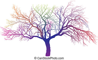 Magic AppleTree - surreal vector illustration of a tree on a...