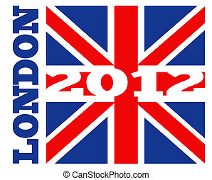 London 2012 British Union Jack flag