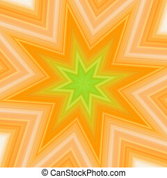 Yellow-green splash star. High resolution abstract image