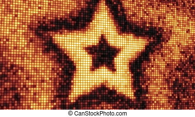 loop star shape on digital screen - computer generated...