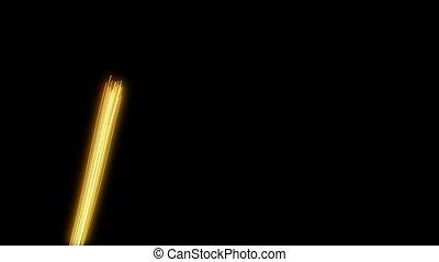 loop background yellow light streak - computer generated...
