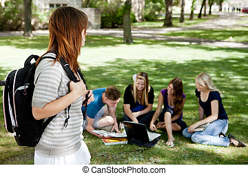 University Students Study Group - A group of university...