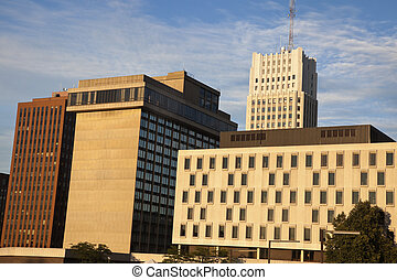 Downtown of Akron architecture