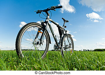 bike - color bike in sunny day, bike series,