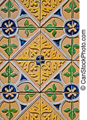 Vintage spanish style ceramic tiles - Colorful vintage...