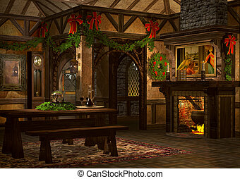 Xmas Inn - a festively decorated bar in the advent season