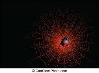 Spider web - Halloween spider web background