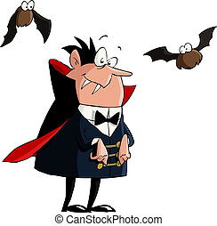 Dracula on a white background, vector illustration