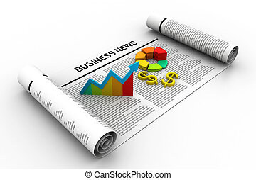 Business graph business growth concept