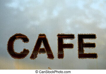 Hip Cafe Sign