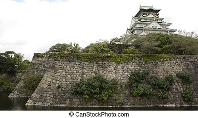 Osaka castle - Osaka castle, one of Japan\'s most famous...