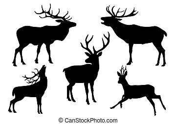 Beer - deers silhouette collection