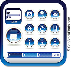 Web icon - E-mail web icons on buttons