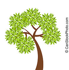 Tree - Symbolic tree with simple single leaves vector...