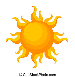 Sun - Fantasy sun over white Vector illustration