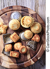 Small tart shells and baking pans - Variety of tart shells...