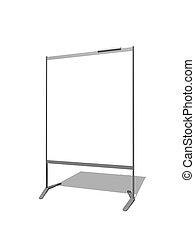 Flip chart - 3d illustration of Blank flipchart on white...
