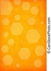 orange hexagon background - orange hexagon on a grunge...