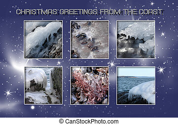Coastal Christmas - Christmas card