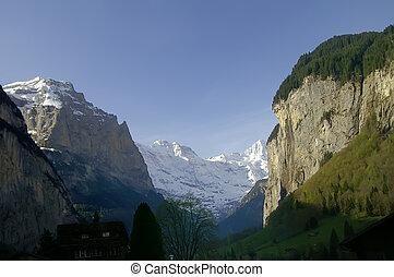 montagna, paesaggio, Berner, Oberland, svizzera