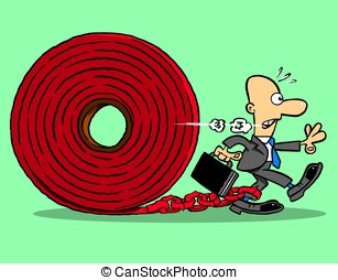 Red tape holds back businessman.