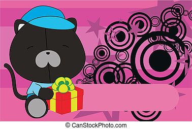 panther baby cartoon background