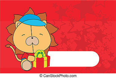 lion baby cartoon background